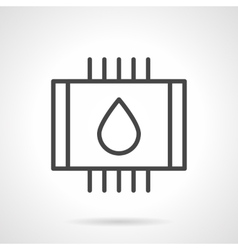 Water heated floor black line icon vector