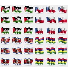 Western sahara szech republic swaziland mauritius vector