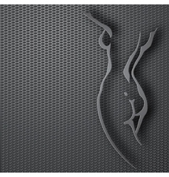 Woman torso Paper design vector image