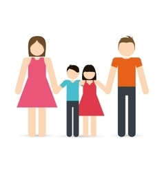 Parents and kids icon avatar family design vector