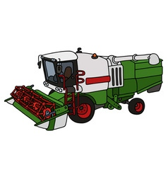 Green and white harvester vector
