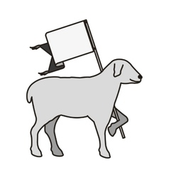 Lamb of god symbol vector