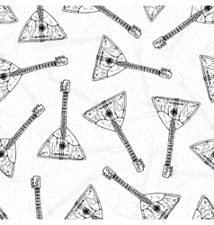 Seamless pattern with wooden balalaikas vector