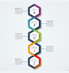 Infographic template of triangular elements vector