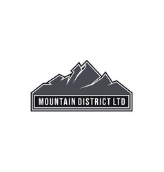 mountain district ltd vector image