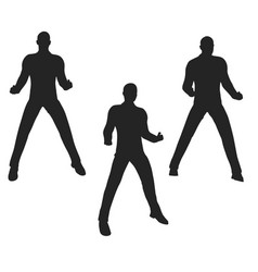 Businessman silhouette in super power pose vector