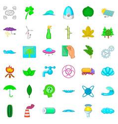 splash icons set cartoon style vector image