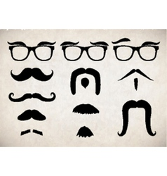 Moustache set vector
