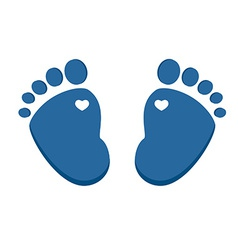 Blue baby footprint vector