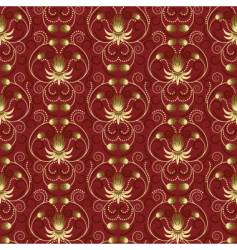 gold flower pattern vector image