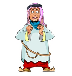 Cartoon man in arab clothing vector