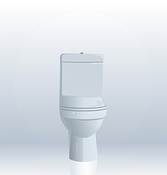 Realistic illustration of toilet bowl vector