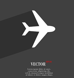 Plane icon symbol flat modern web design with long vector