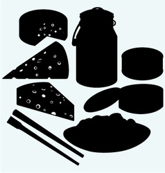 Set meal vector image