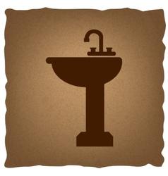 Bathroom sink sign vector