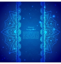 Blue indian vintage ornament vector