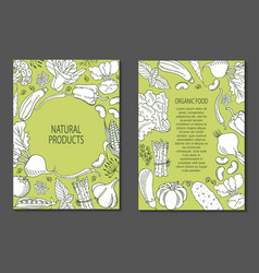 A flyer of vegetables vector