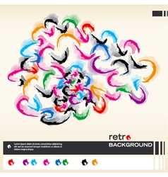 abstract colorful layout background vector image vector image