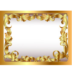 ancient background framed gold vegetative ornament vector image