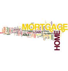 are you ready for a home mortgage loan text vector image vector image