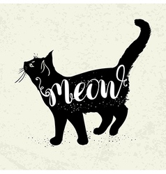 Background with black cat vector