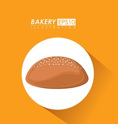 Bakery design over yelllow background vector