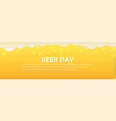 beer day banner background vector image vector image