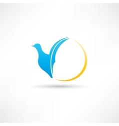 Bird abstraction icon vector