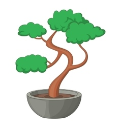 Bonsai tree icon cartoon style vector image