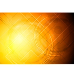 Bright orange abstract design vector image vector image