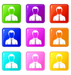 businessman set 9 vector image vector image