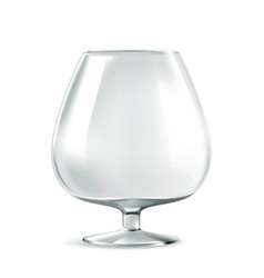 Cognac glass vector