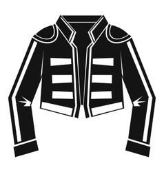 Costume of toreador icon simple style vector