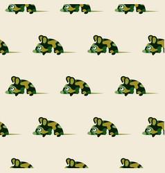 Cute camo mice design seamless pattern vector