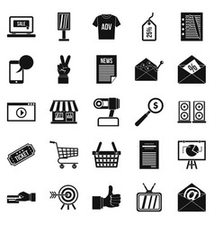 digital age icons set simple style vector image vector image