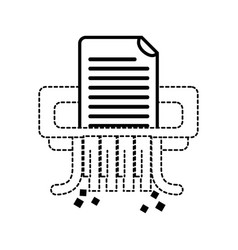 dotted shape office paper shredder machine design vector image