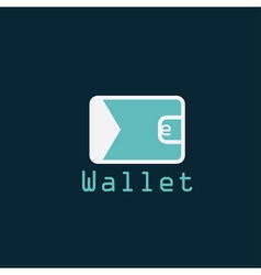electronic wallet flat design design template vector image vector image