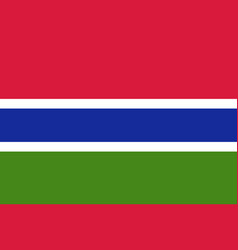 gambia country flat style flag vector image