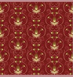 Gold flower pattern vector