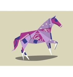 Horse made of euro banknote cartoon vector