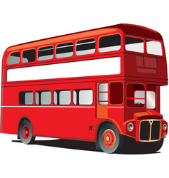 London double decker bus vector