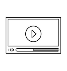 media video player vector image