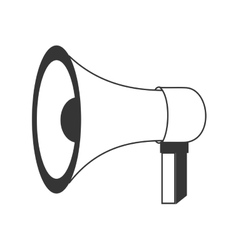 Megaphone or bullhorn theme icon design vector image