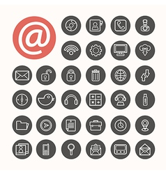 Mobile Interface Icons set eps10 vector image