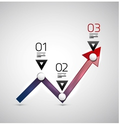 Modern infographic design template - arrow graph vector