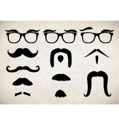 Moustache set vector
