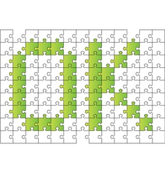 ok composed of puzzle vector image