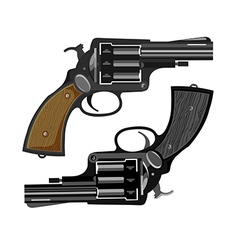 old revolvers vector image
