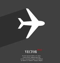 Plane icon symbol Flat modern web design with long vector image
