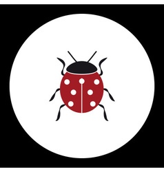 Red ladybug animal symbol simple black icon eps10 vector